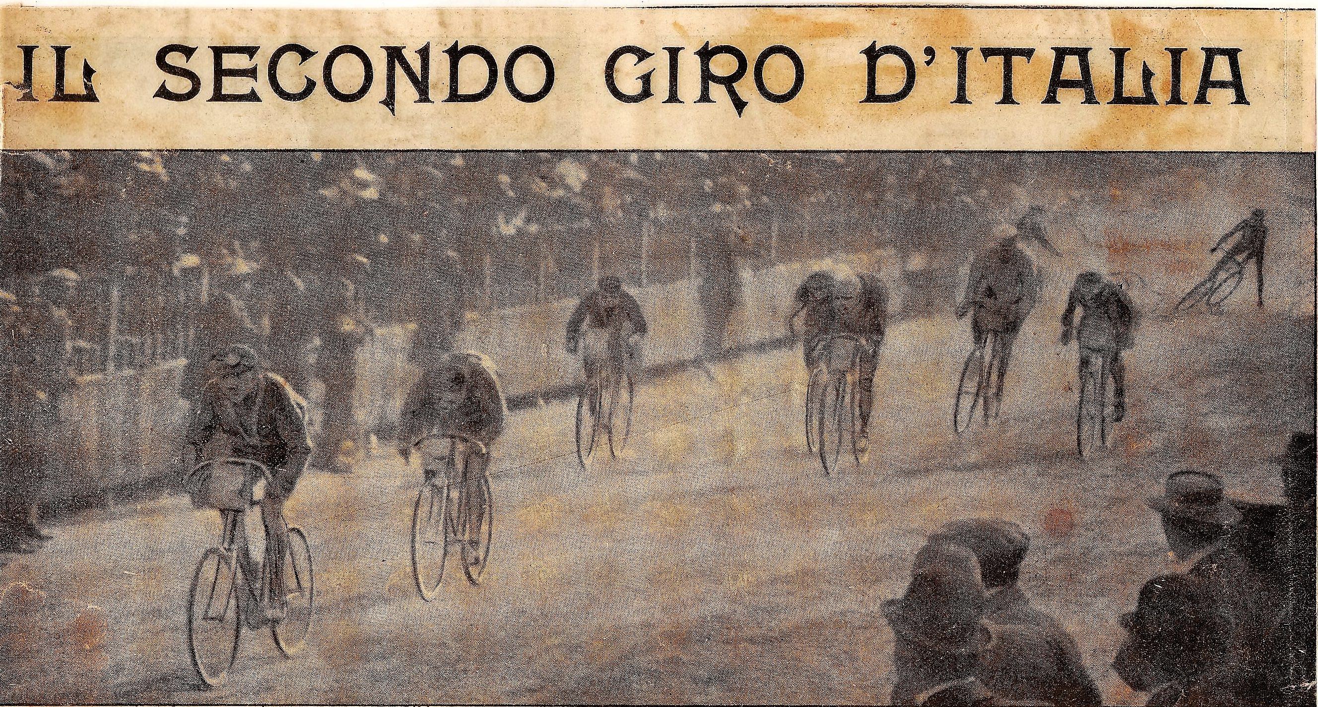 1910 - Arrivo della prima tappa del Giro d'Italia Milano – Udine: 1° Azzini, 2° Galetti
