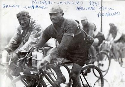 1930 - Carlo Galetti, di nuovo in corsa alla Milano-Sanremo.
